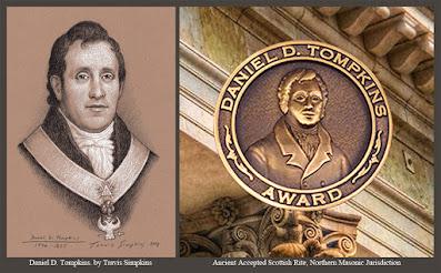 Daniel D. Tompkins, 33°. First Sovereign Grand Commander. Scottish Rite, NMJ. by Travis Simpkins