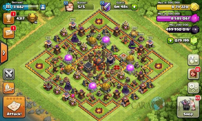 Desain Base Pertahanan Terbaik Untuk Base War TH 10 Update Terbaru 32