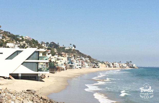 Ruta en coche por la costa oeste de Estados Unidos casas Malibu
