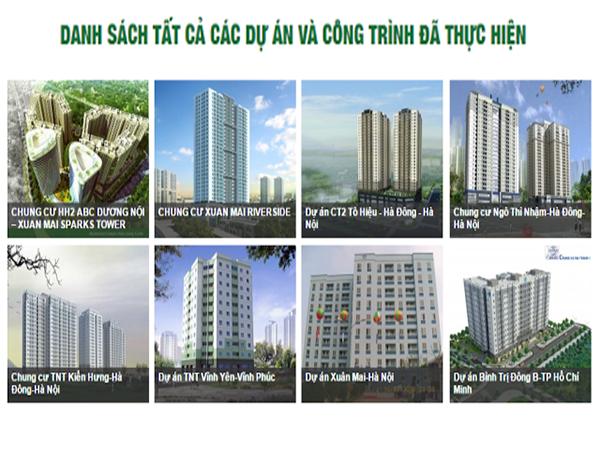 Các dự án của Chủ đầu tư chung cư Xuân Mai Riverside