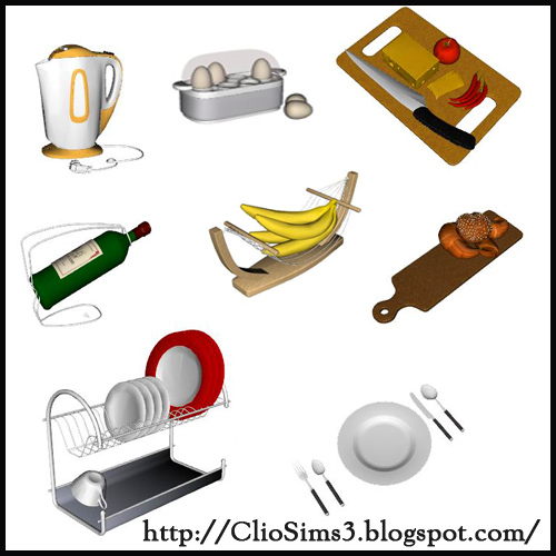My Sims 3 Blog: Kitchen Decor by Clio