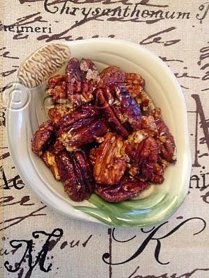 Burnt Sugar Glazed Pecans