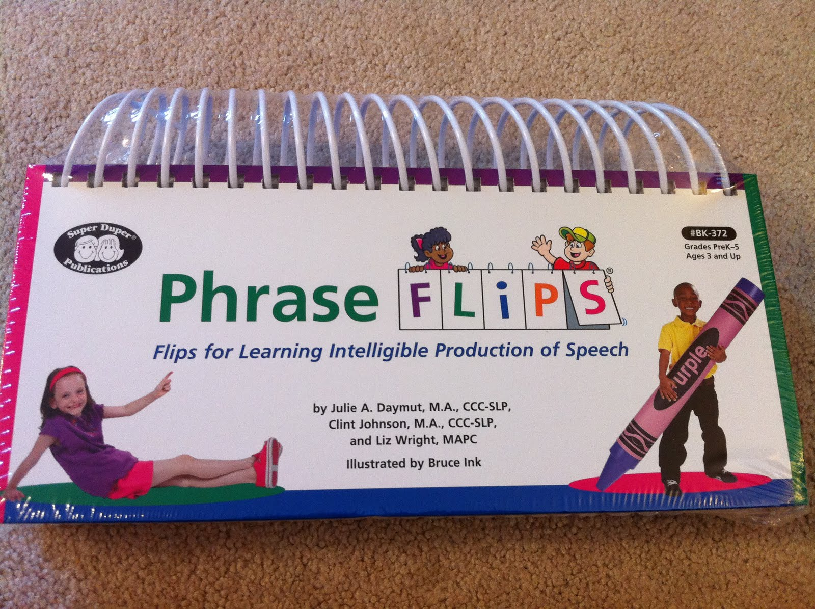Therapy Materials Review: Phrase Flips - Flips for Learning Intelligible  Production of Speech