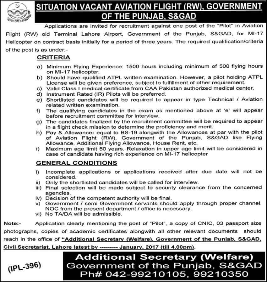 Jobs in Pakistan Civil Aviation Authority Published on 14 January 2017