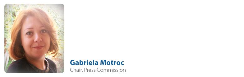 Gabriela Motroc, Chair of Press Commission
