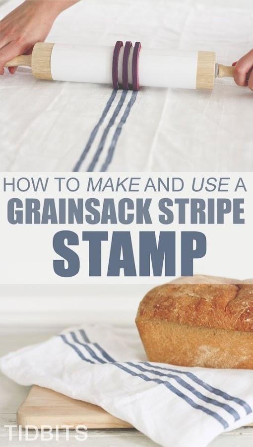 Estampar tejidos con un rodillo de cocina