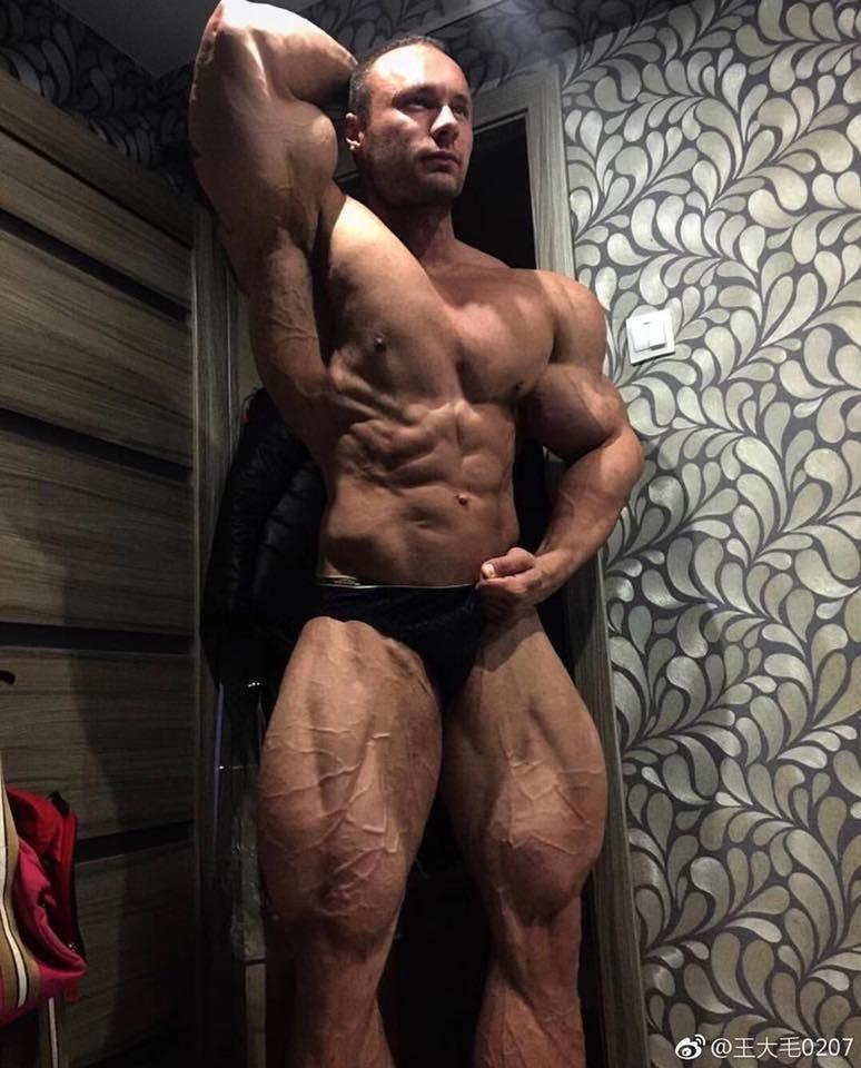 Huge Russian Bodybuilder Nikita Tkachuk - JACKED 4EVER