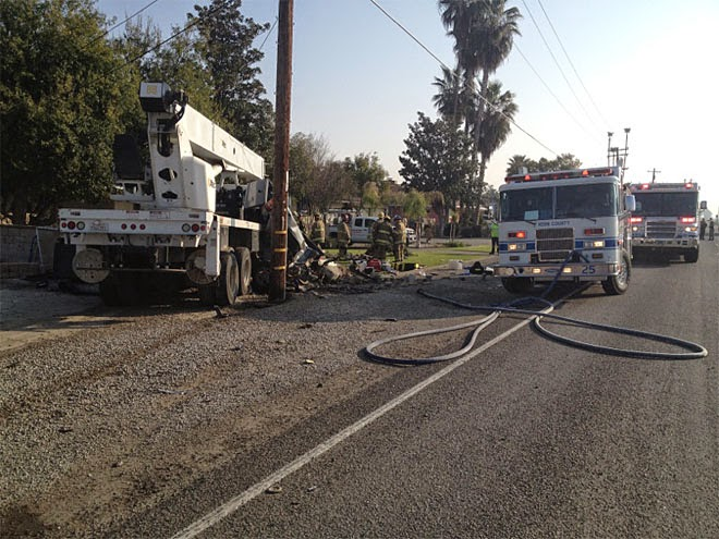 Fresno Visalia Bakersfield Accidents: Fatal Crane Truck and Pickup