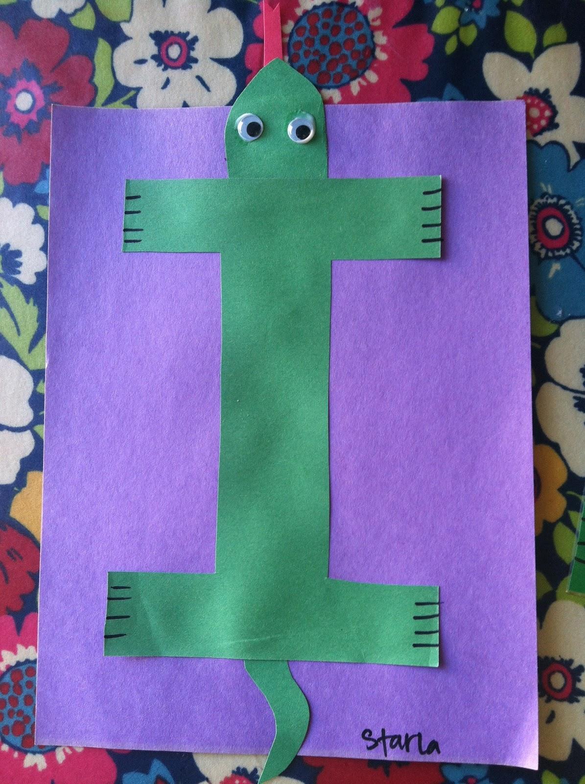 Miss Maren S Monkeys Preschool Iguana Template