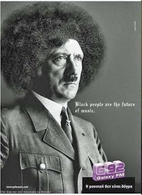 Lustige Afro Frisuren - Schwarze Menschen und Musik - Spaß Spruch