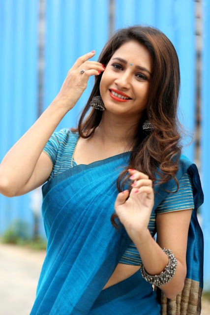 manvitha harish saree photos
