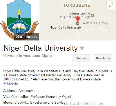 Niger Delta University (NDU) Post-Graduate Admission Forms 2017/2018 on Sale