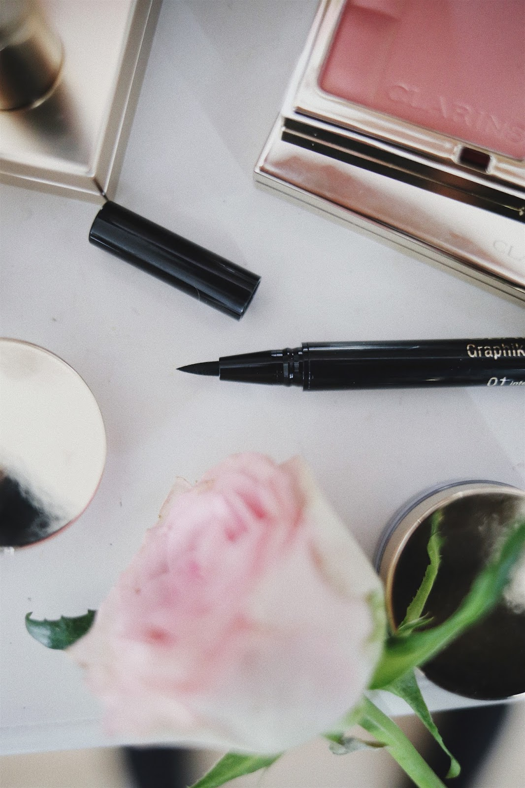 Graphik , Collection Automne 2017 , Clarins, Revue , Avis , Swatch, Blog beauté , Blush Prodige, Ombre Matte , rosemademoiselle , rose mademoiselle