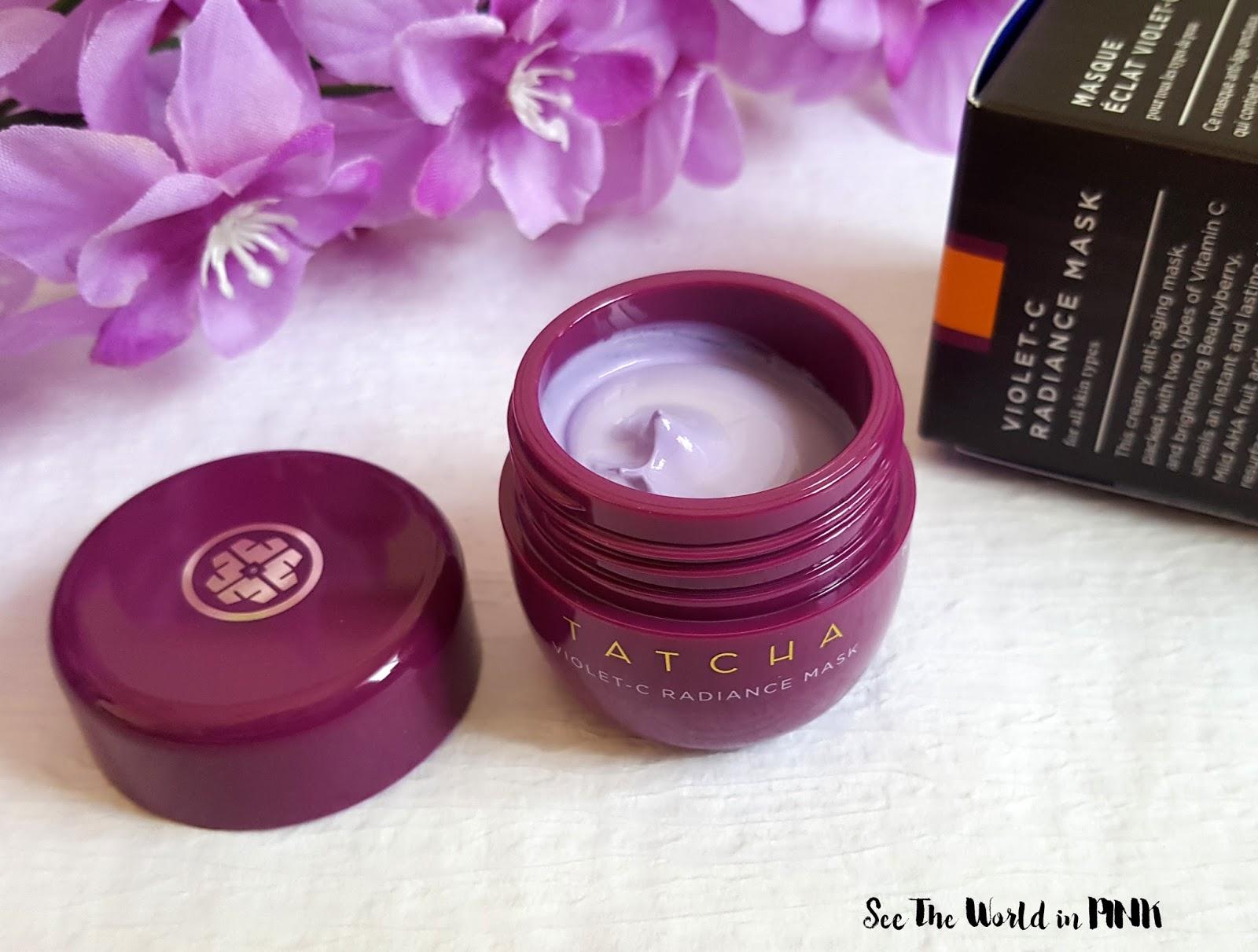 Mask Wednesday - New Tatcha Violet-C Radiance Mask Review!