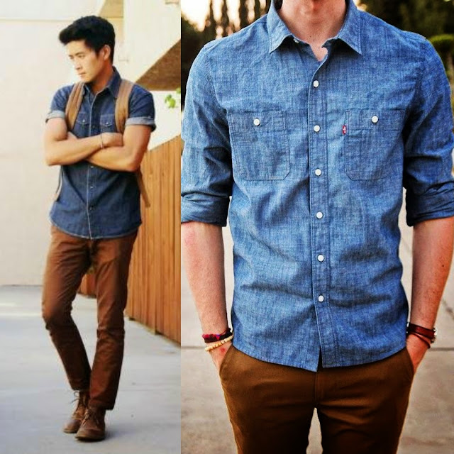 Look Masculino azul