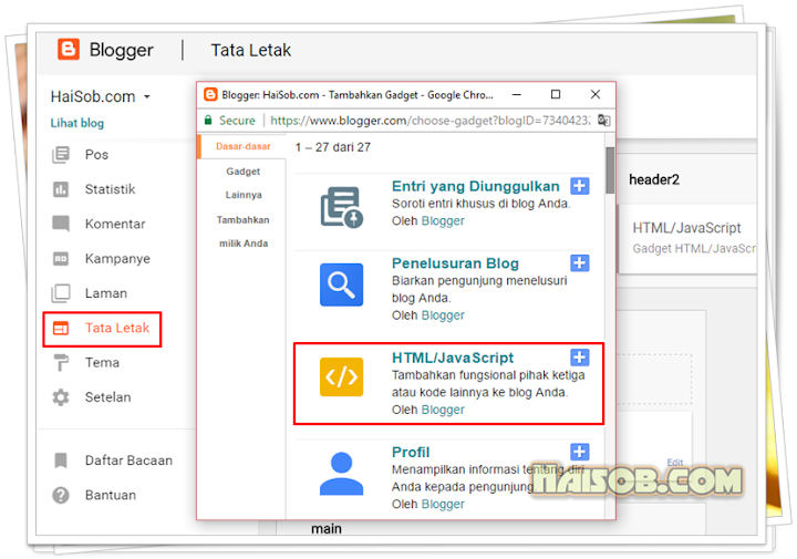 "Cara membuat widget ""Profil Admin V1"" (Author Box) di Blogger"