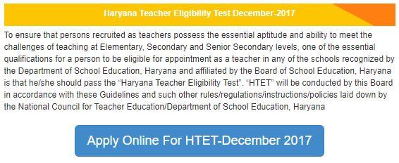 image : Apply Online for HTET December 2017 @ htetonline.com