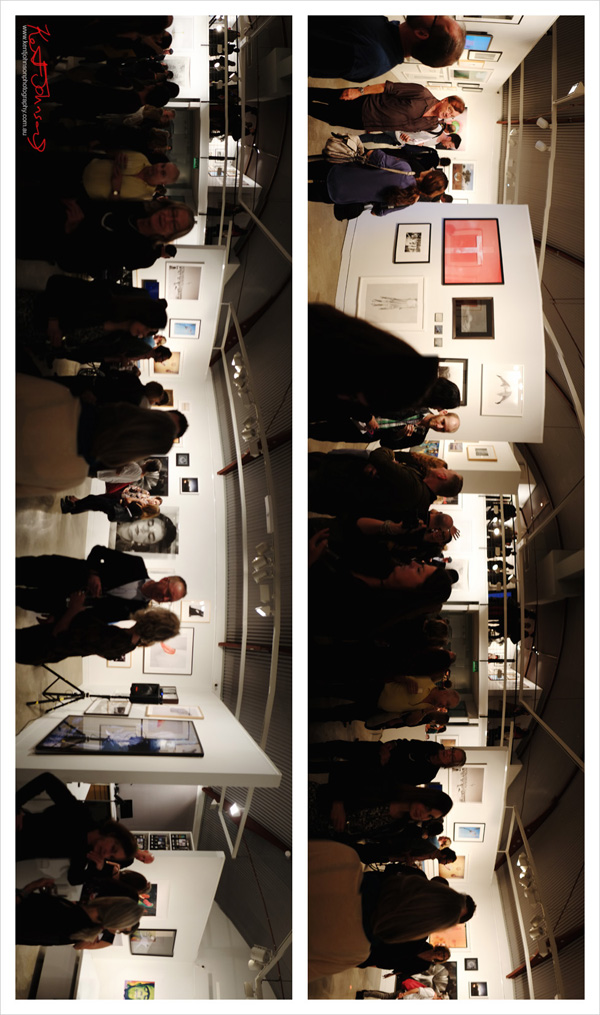 Exhibition panorama and art crowd - Final show at Stills Gallery. Street Fashion Sydney by Kent Johnson.
