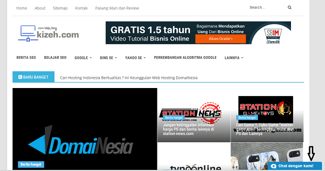 ara memasang live chat di website atau blog ( blogger dan wordpress )