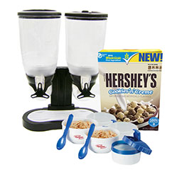 Hershey's Cookies 'n' Creme Cereal and Promotional MyBlogSpark items for launch of new