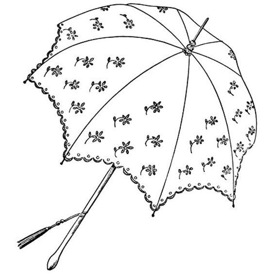 Tranh tô màu cái ô hoa