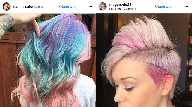 włosy kolorowe