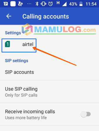 select sim for call divert