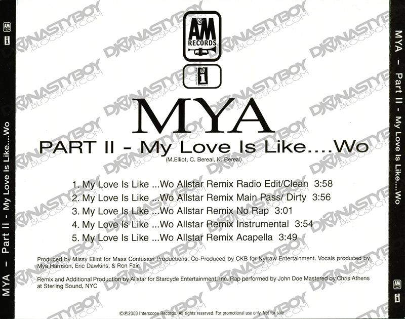 Promo, Import, Retail CD Singles & Albums: Mya - My Love Is