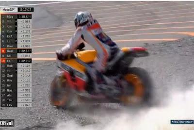 Gagal Nikung, Marquez Kecelakaan