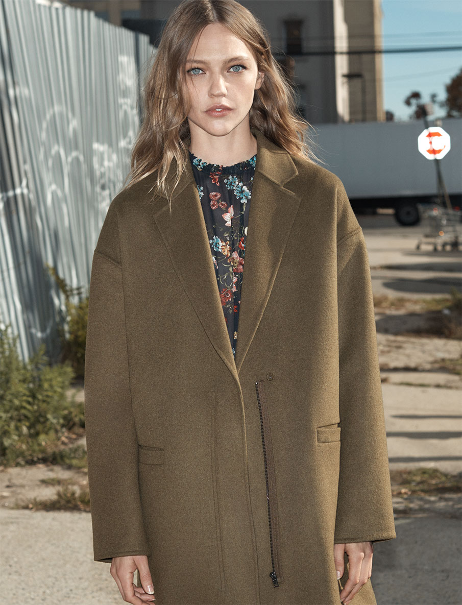 Sasha Pivovarova Wears the Best of Zara's Winter 2016 Coats