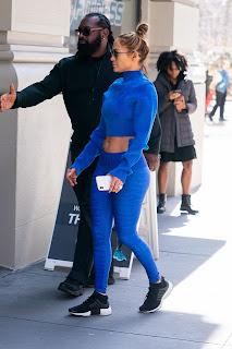 Jennifer Lopez Navel Show Pics In Blue Dress
