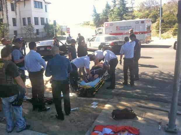 fresno car crash highway 180 shooting