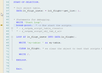 ABAP Debugger Script, SAP ABAP Development, SAP ABAP Tutorials and Materials