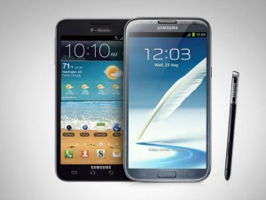 Galaxy Note II e do Galaxy Note