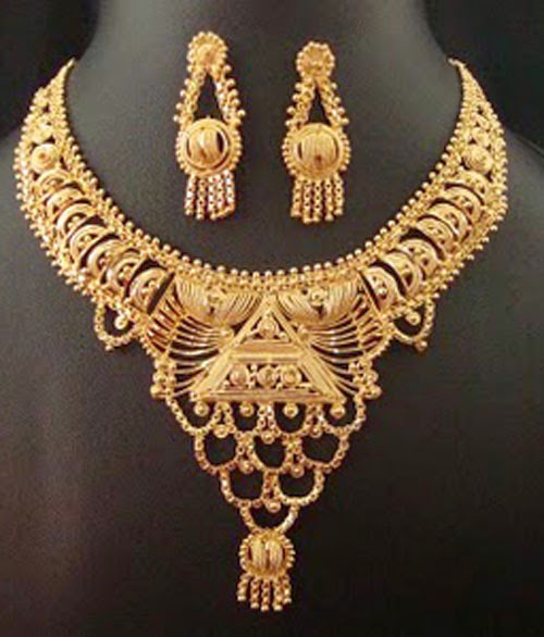 Kerala Traditional Gold Bridal Necklace Designs
