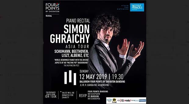 Tur Indonesia Pianis Prancis Simon Ghraichy