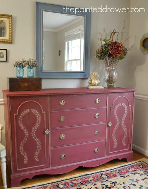 Burgundy Buffet The Painted Drawer Treasure Hunt Thursday From My Front Porch To Yours