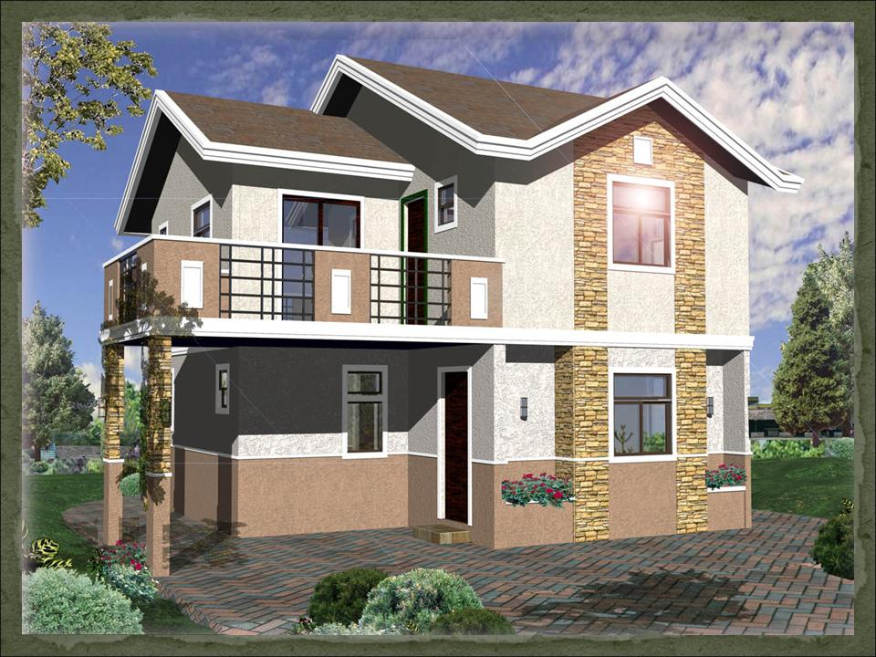 Emejing House Design Plans Philippines Gallery   3D house designs  Stunning House Design With Floor Plan Philippines Pictures   3D  . 3d Home Design Images Of Double Story Building. Home Design Ideas
