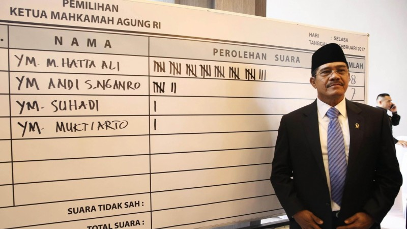 Hatta Ali, terpilih jadi Ketua MA lagi
