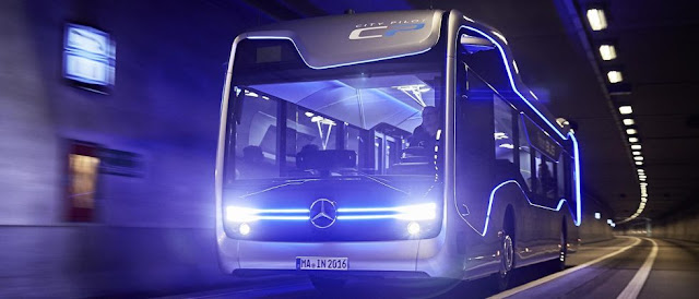 The Future Mercedez-Benz Bus Make Semi-Automated Trip