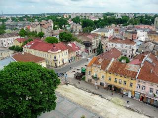 Дрогобыч. Вид на северо-восток, на площадь Рынок, на улицу Ковальскую и Степана Бандеры