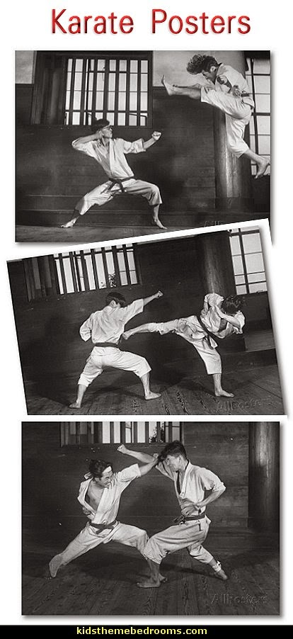 karate posters - Japanese Karate Students Demonstrating Fighting posters