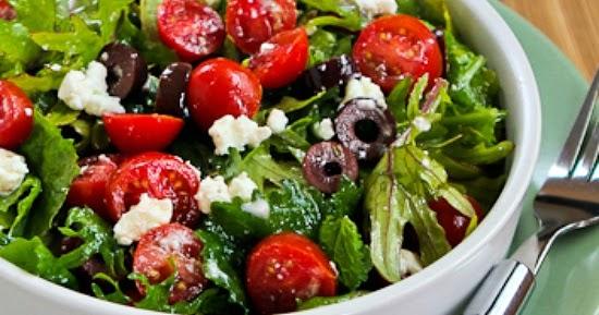 Kalyn's Kitchen®: Baby Kale Greek Salad
