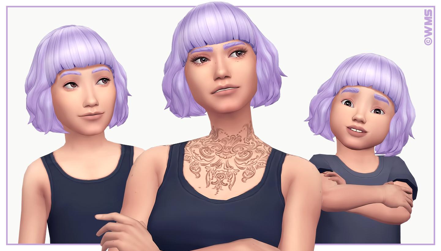 Скачать Прическа от wildlyminiaturesandwich к Sims 4