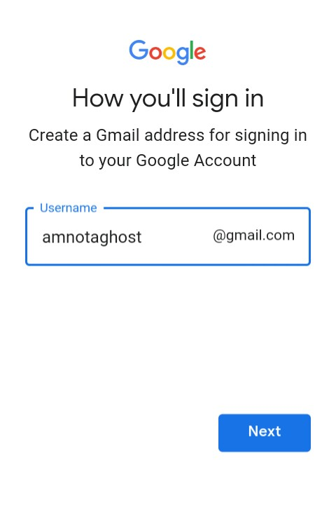 create gmail account without number