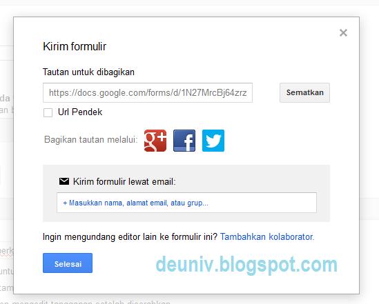 link google form telah jadi