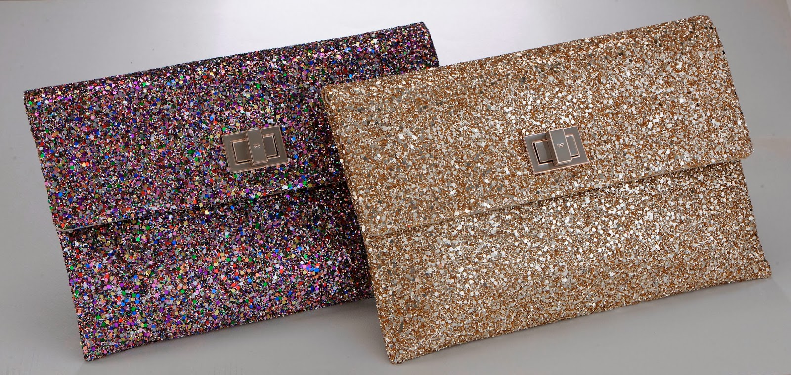 Anya Hindmarch's Limited Edition 10th Anniversary Valorie Glitter Clutch
