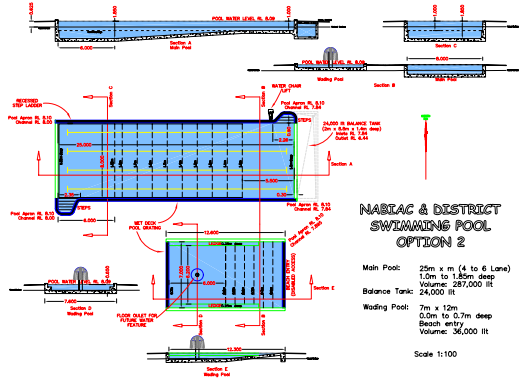 Final major project january 2012 for Pool design drawings
