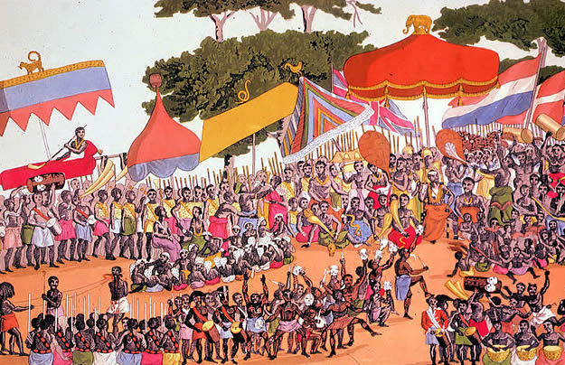 Ashanti yam ceremony in the Ashanti Kingdom