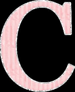 Abecedario Rosa con Orilla de Glitter Plateado. Pink Alphabet with Silver Glitter.